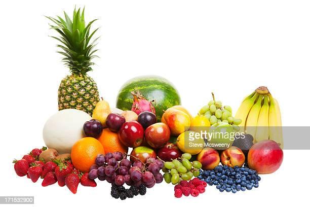 Fruit on white