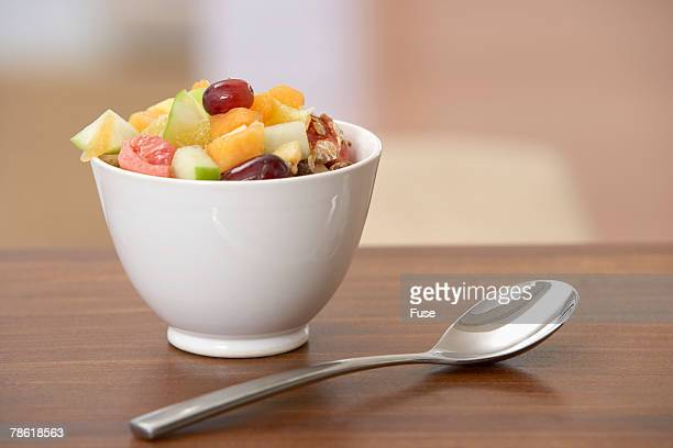 Fruit Salad and Spoon