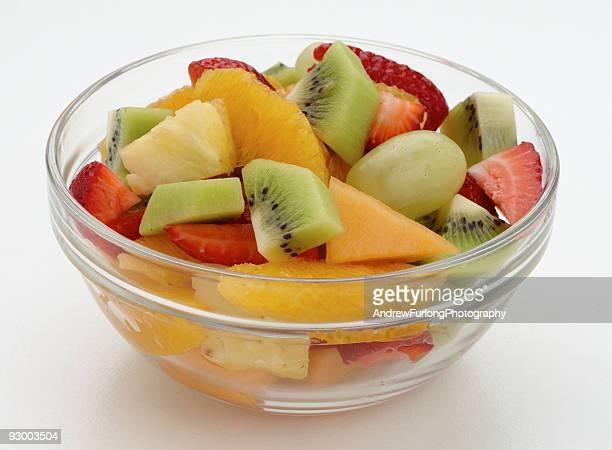 Fruit salad serve in bowl