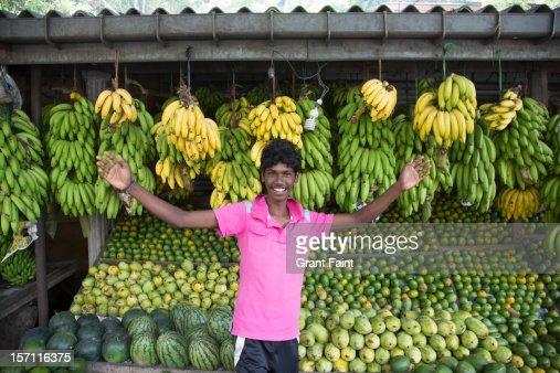 Fruit seller. : Stock Photo