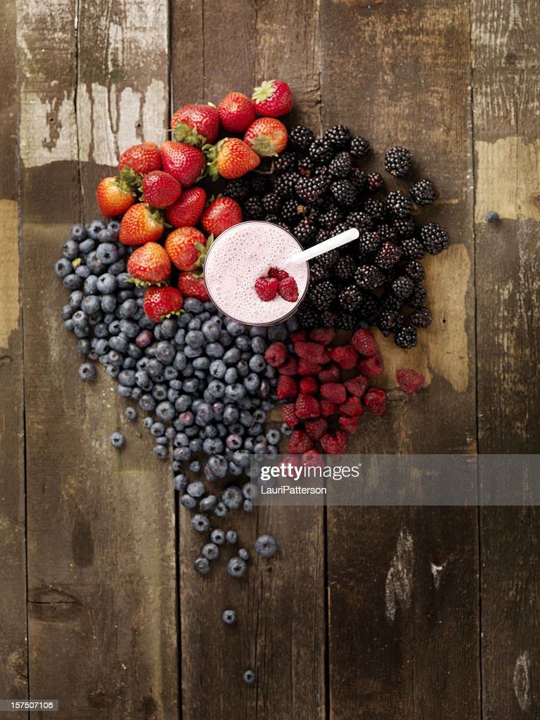 Fruit Smoothie with Ingredients