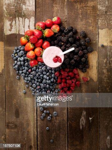 フルーツのスムージー、食材
