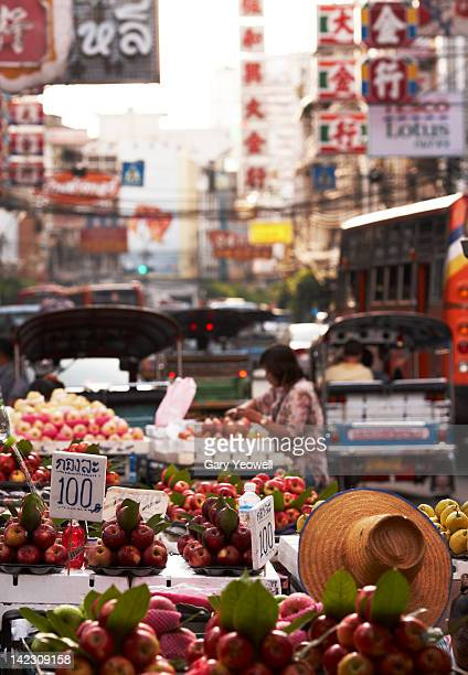 Fruit stall in a busy street