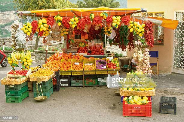 Fruit stand in a market, Amalfi, Italy