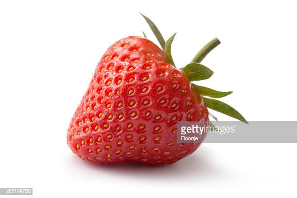 Fruit: Strawberry Isolated on White Background
