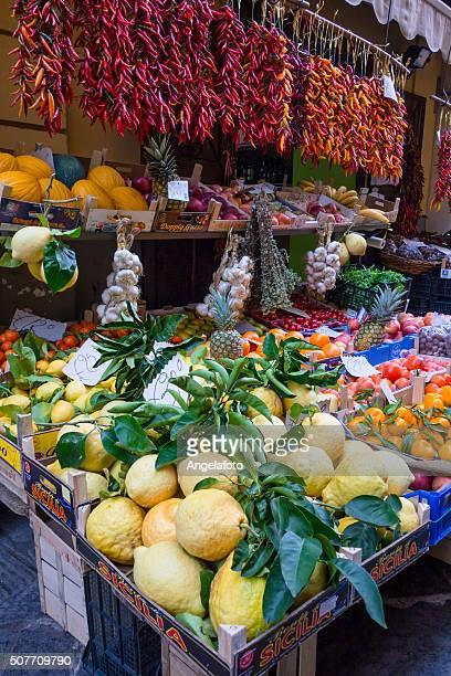 Fruit Street Market in Sorrento, Italy