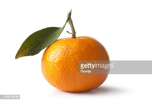 Fruit: Tangerine Isolated on White Background