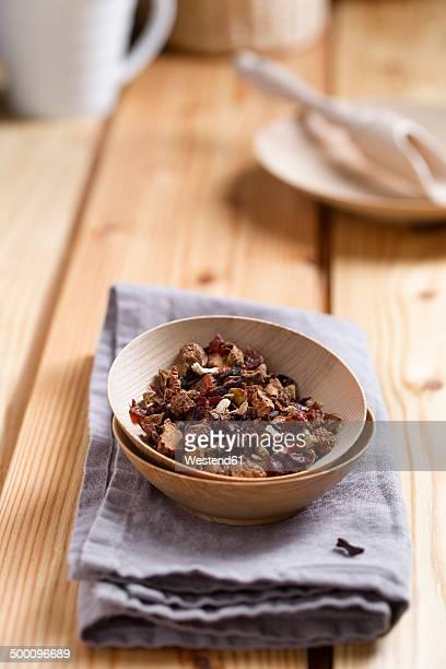 Fruit tea in a bowl