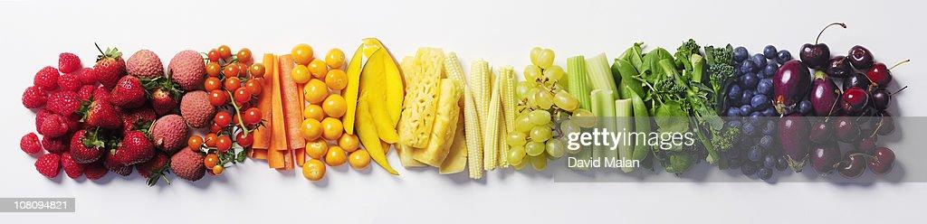 Fruit & vegetable color wheel. : Foto stock