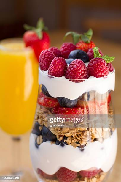 Fruit, Yogurt and Granola Parfait