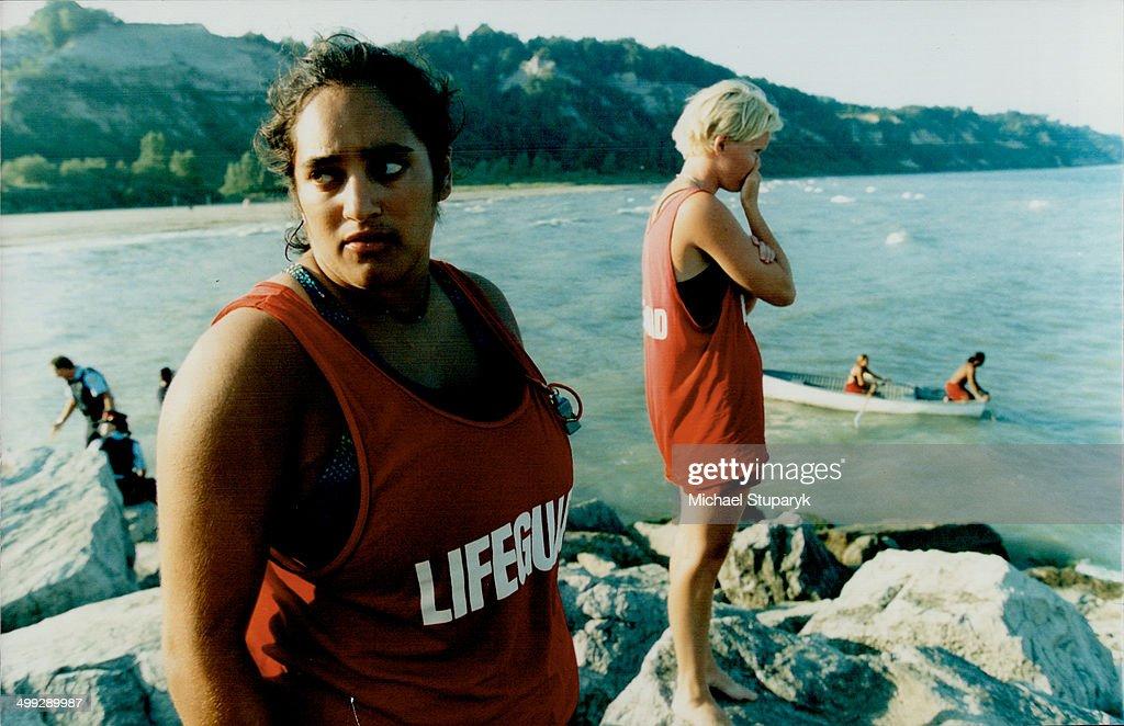 Fruitless search Head lifeguard Christine Steinwall foreground – Head Lifeguard