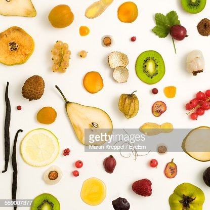 Fruits Against White Background