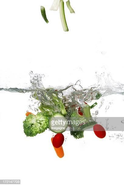 フルーツや野菜のスプラッシュシリーズ