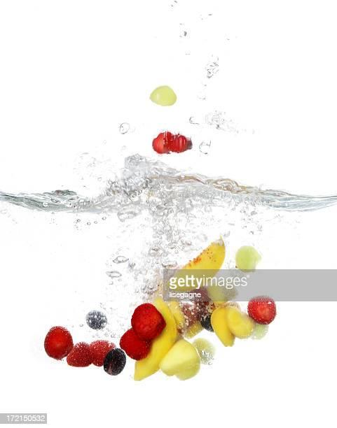 Fruits et légumes splash série