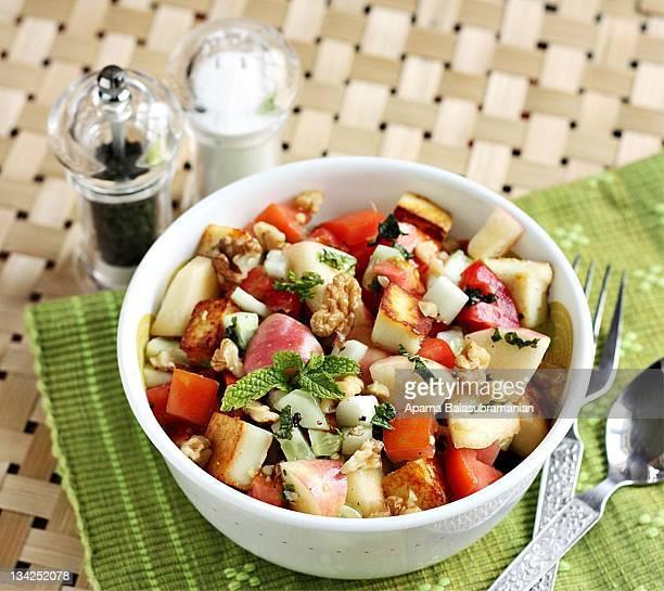 Fruits and veggies salad