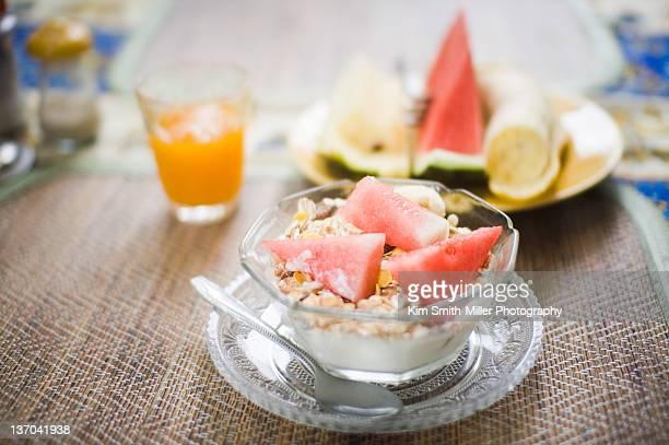 Fruits and yogurt with Muesli