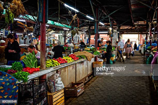 Fruits market in Kutaisi, Georgia - June 27, 2017