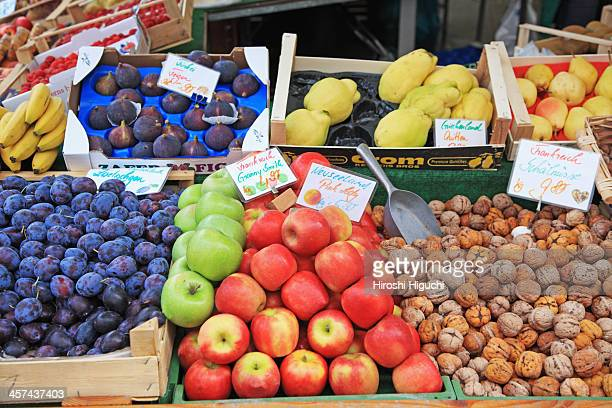 Fruits, Market stall