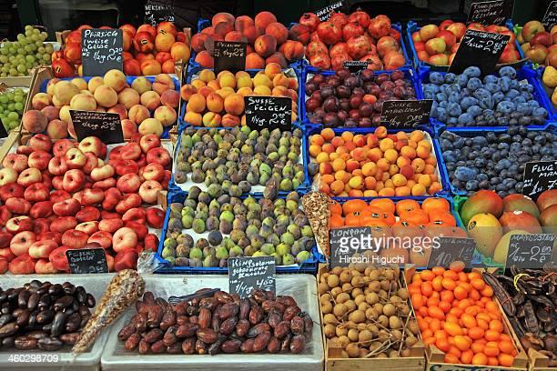 Fruits, market stall