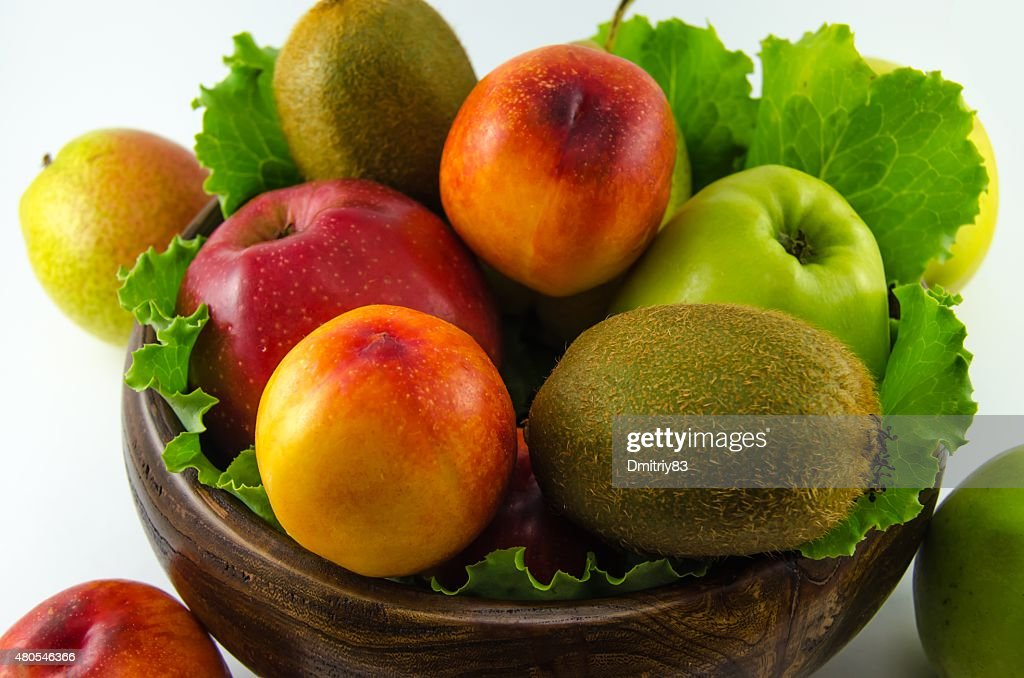 Fruits on a white background : Stock Photo
