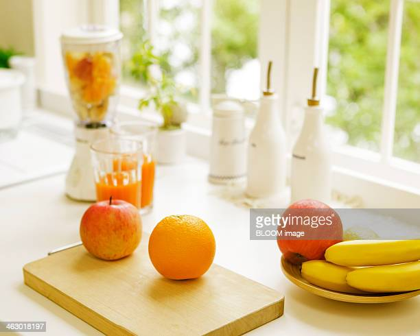 Fruits On Kitchen Worktop