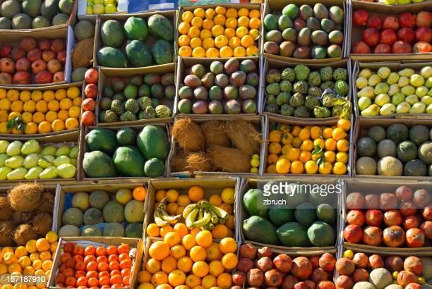 Obst. Markt auf der Strasse