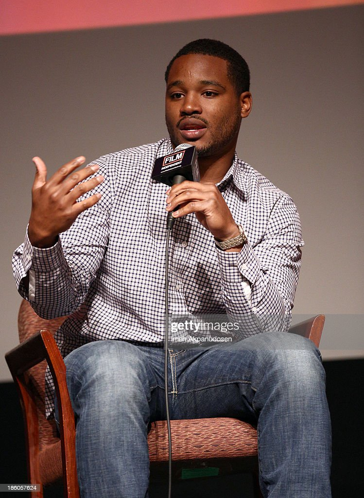 'Fruitvale Station' writer/director Ryan Coogler speaks onstage at the Film Independent Forum at the DGA Theater on October 27, 2013 in Los Angeles, California.