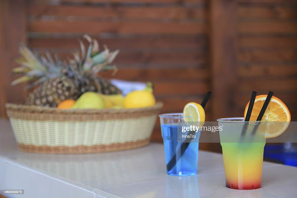 fruity cocktails : Stock Photo