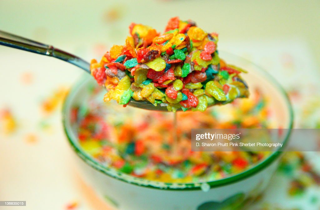 Fruity flakes cereal : Stock Photo