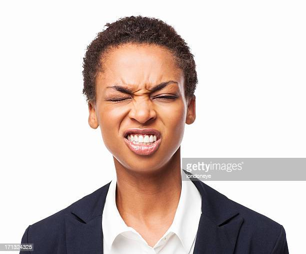 Frustrated African American Female Executive - Isolated