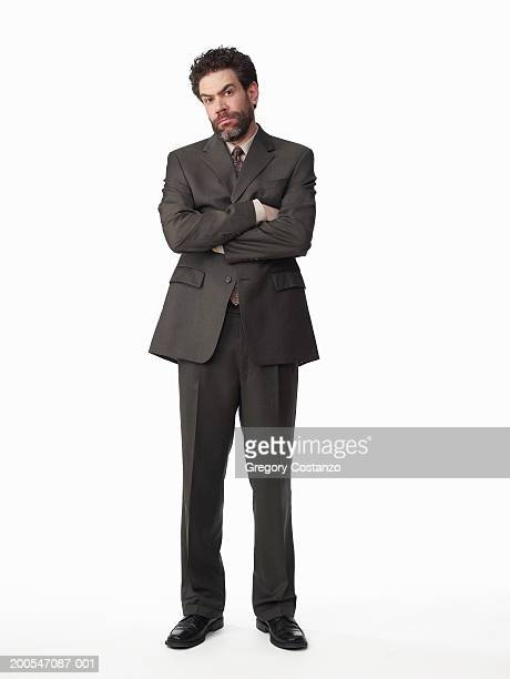 Frustrated businessman on white background, portrait
