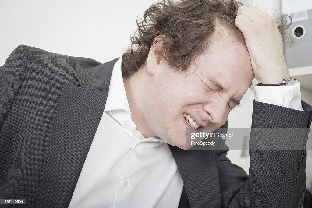 Frustrated businessman : Stock Photo