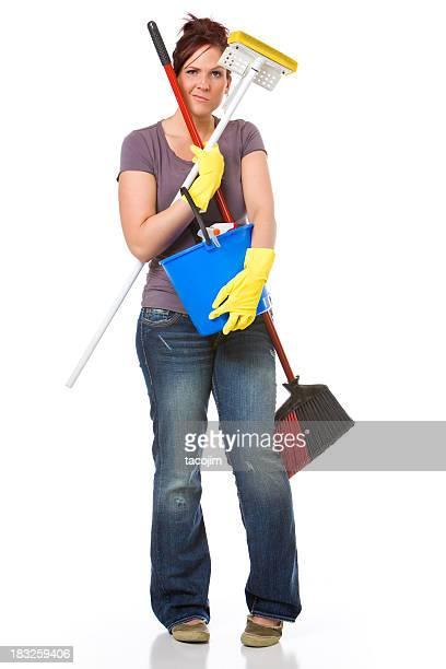 Frustriert Haus Reinigung