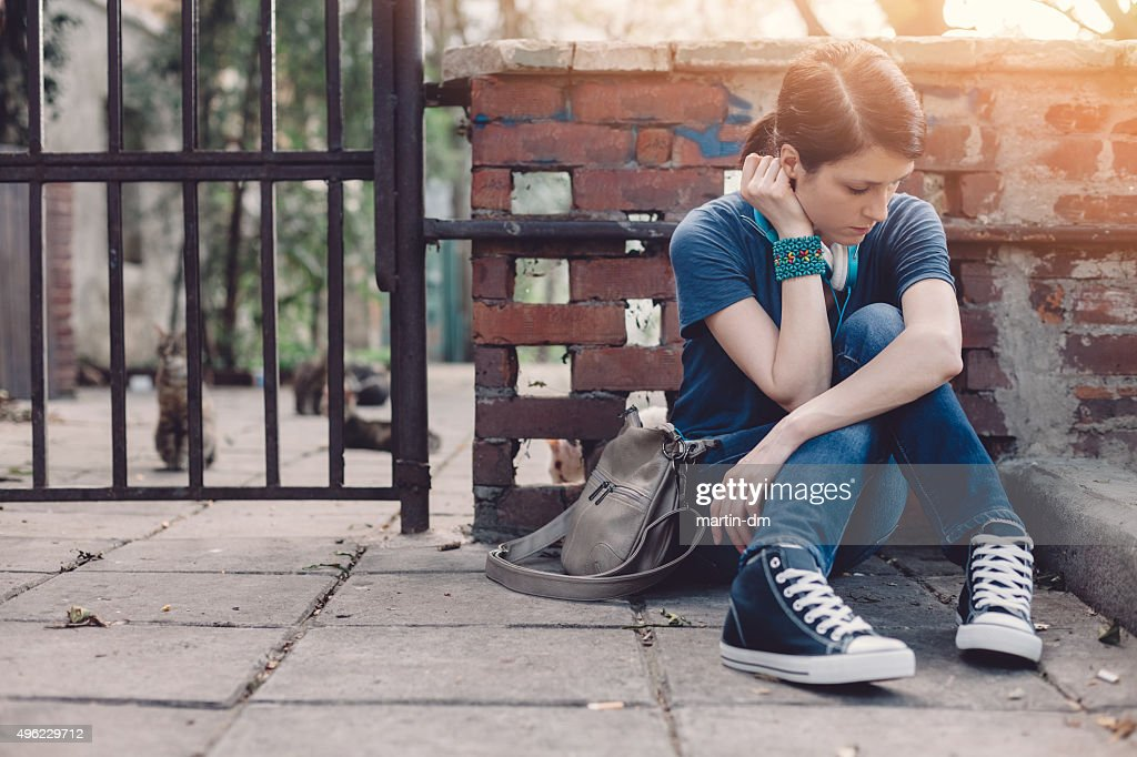 Frustrated teenage girl : Stock Photo