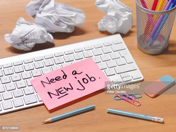 frustrated unappreciated employee needs a new job