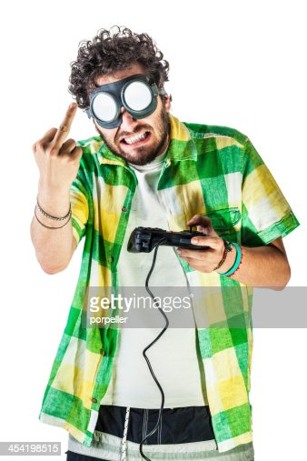 Frustrating video game : Stock Photo