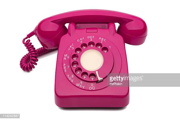 Fuchsia dial style corded desk phone