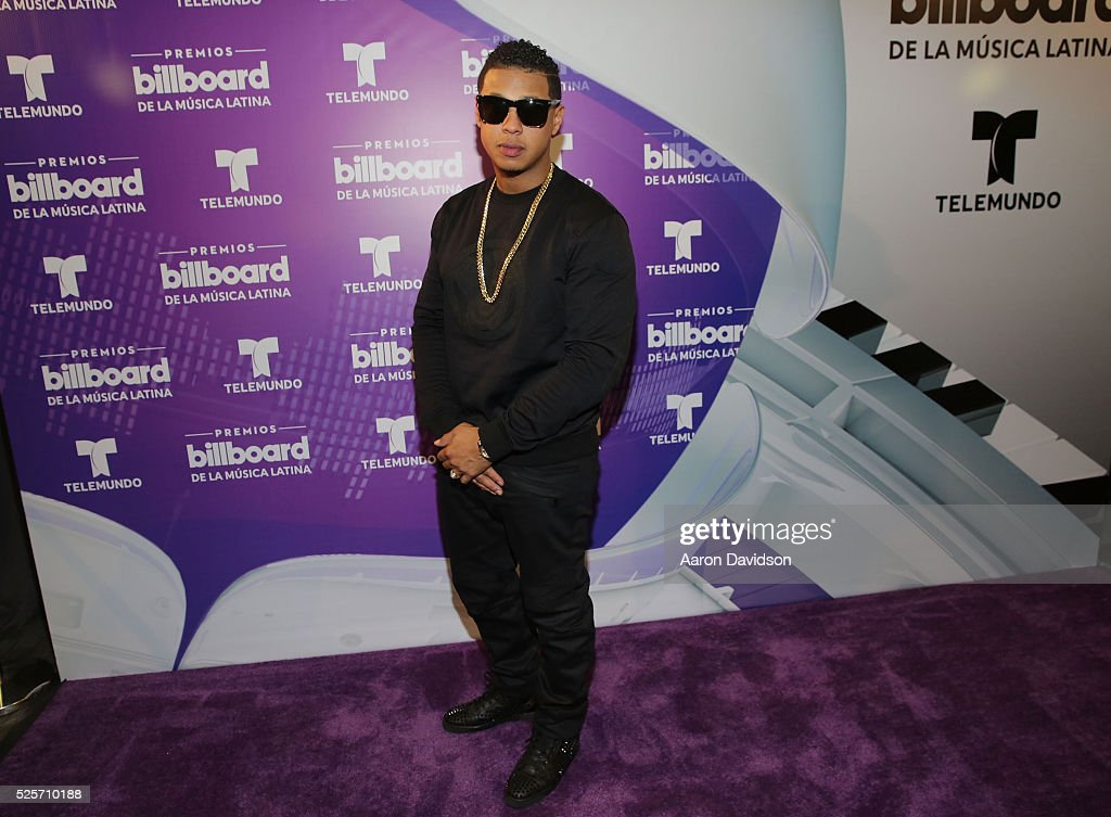 Fuego poses backstage at the Billboard Latin Music Awards at Bank United Center on April 28, 2016 in Miami, Florida.