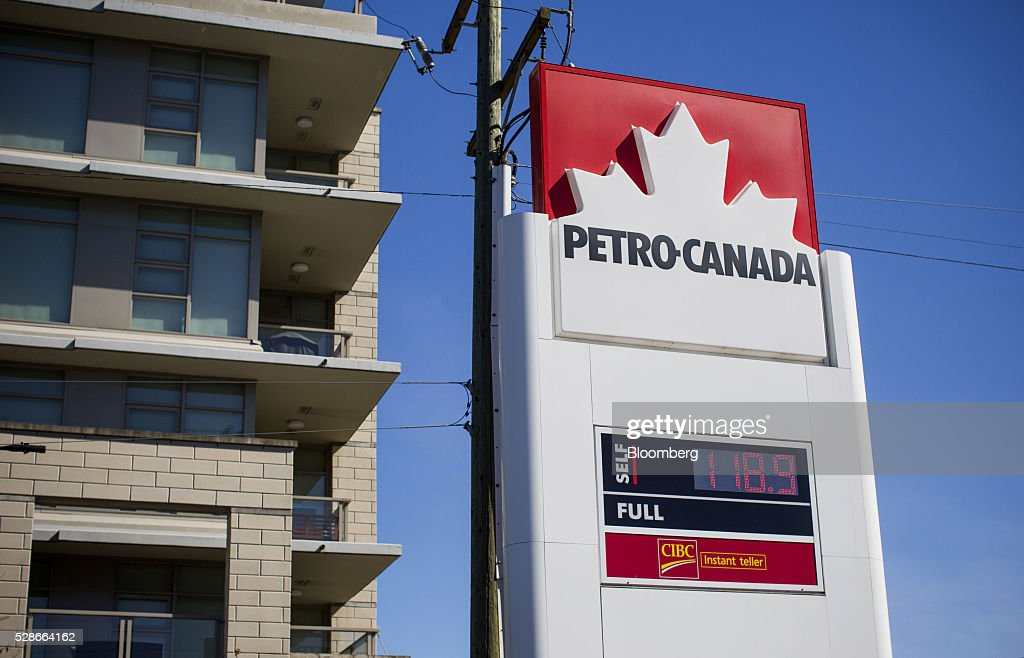 Fuel prices are displayed at a Petro-Canada gas station in Vancouver, British Columbia, Canada, on Friday, May 6, 2016. The worst wildfire in Alberta history is boosting Canadian crude prices as oil companies evacuate workers and shut in output. Photographer: Ben Nelms/Bloomberg via Getty Images