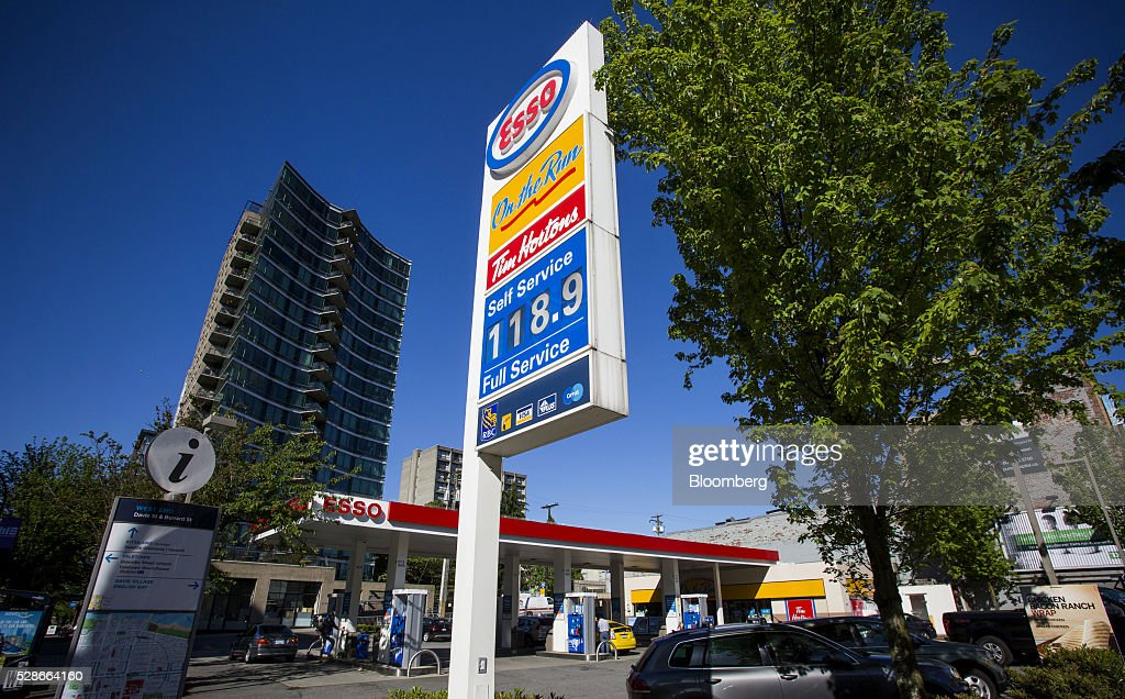 Fuel prices are displayed at an Esso gas station in Vancouver, British Columbia, Canada, on Friday, May 6, 2016. The worst wildfire in Alberta history is boosting Canadian crude prices as oil companies evacuate workers and shut in output. Photographer: Ben Nelms/Bloomberg via Getty Images