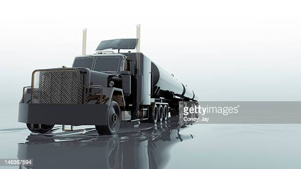 CGI of fuel tanker truck