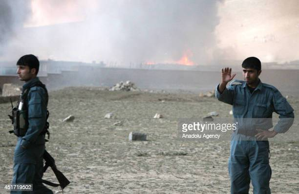400 fuel tankers which they claimed were supplying foreign troops in Afghanistan are burned out on the outskirts of Kabul Afghanistan on July 5 2014