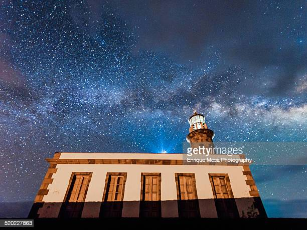 Fuencaliente Lighthouse and Milky Way
