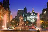 Fuente de Cibeles and El Edificio Metropolis on the Gran Via