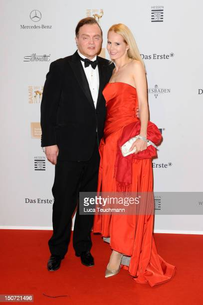 Fuerst Alexander zu Schaumburg Lippe and Dr NadjaAnna Fuerstin zu Schaumburg Lippe attend the Red Carpet for the Bambi Award 2011 ceremony at the...