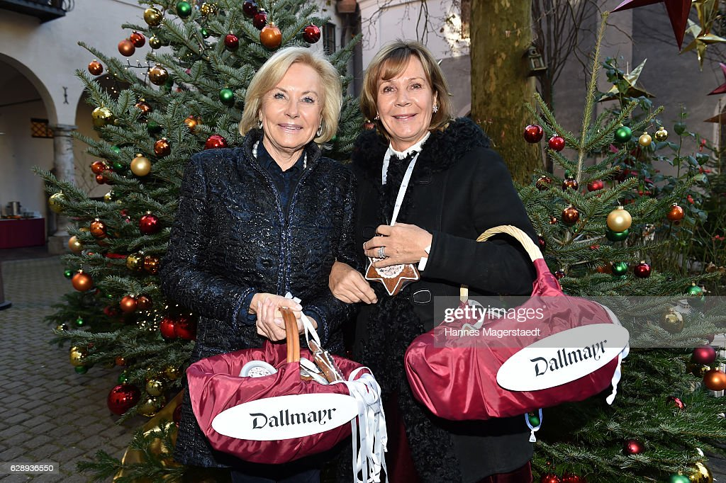 Fuerstin Inge Wrede-Lanz and Prinzessin Ursula von Bayern during the 21th BMW advent charity concert at Jesuitenkirche St. Michael on December 10, 2016 in Munich, Germany.