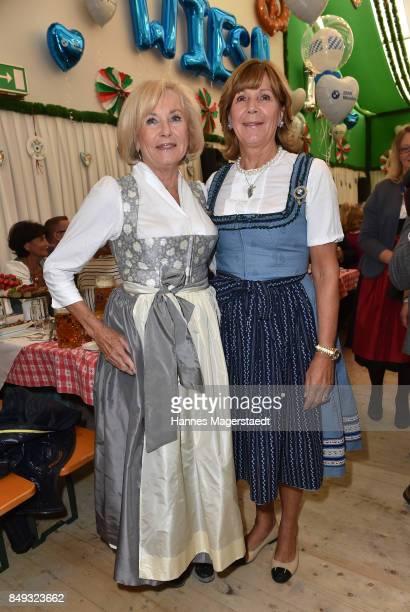 Fuerstin Inge WredeLanz and Prinzessin Ursula von Bayern during the BMW Armbrustschiessen as part of the Oktoberfest 2017 at...