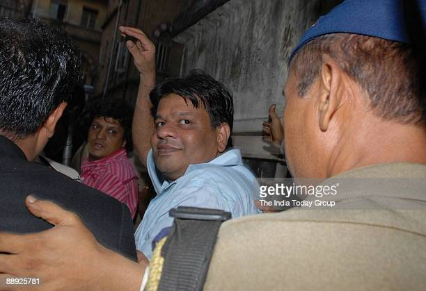 Fugitive gangster Dawood Ibrahim's brother Iqbal Kaskar is mobbed by mediapersons as he coming out of Session court in Mumbai 13 June 2007 Kaskar was...
