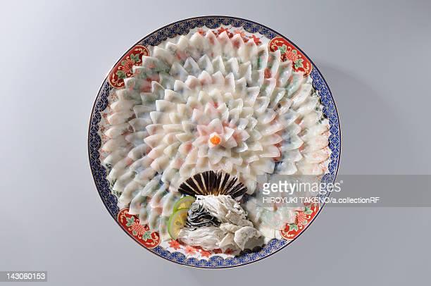 Fugu (puffer fish) sashimi