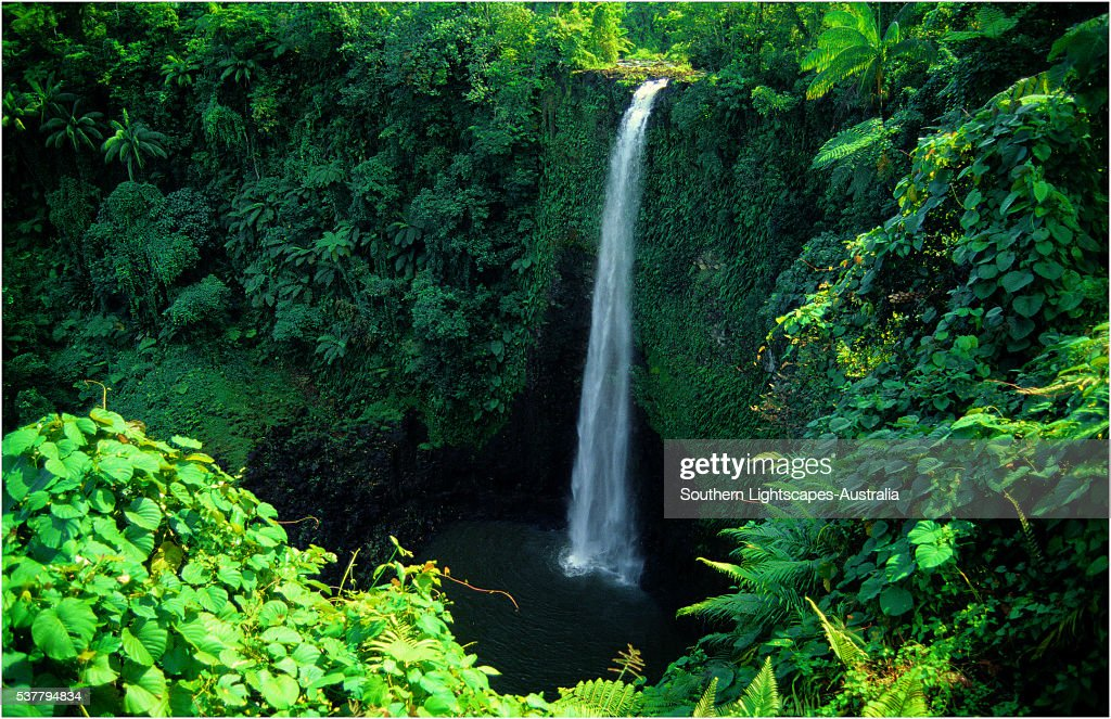 Fuipusia waterfall, The Island of Upolu, Western Samoa.